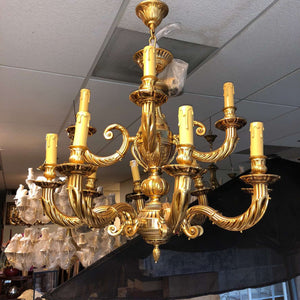 "12 Light Classic Gold Chandelier for Indoor Lighting 32"" x 31"""