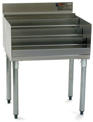 "Eagle Group LD24-18 Stainless Raised Liquor Bottle Display Unit w/ (4) Steps - 24"" x 19.5"""