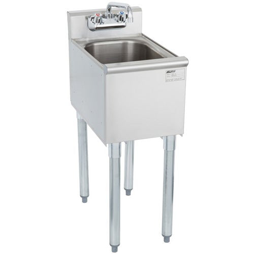 "Eagle Group MA2-18 20"" Modular Commercial Hand Sink w/ Splash-Mount Faucet and Basket Drain"