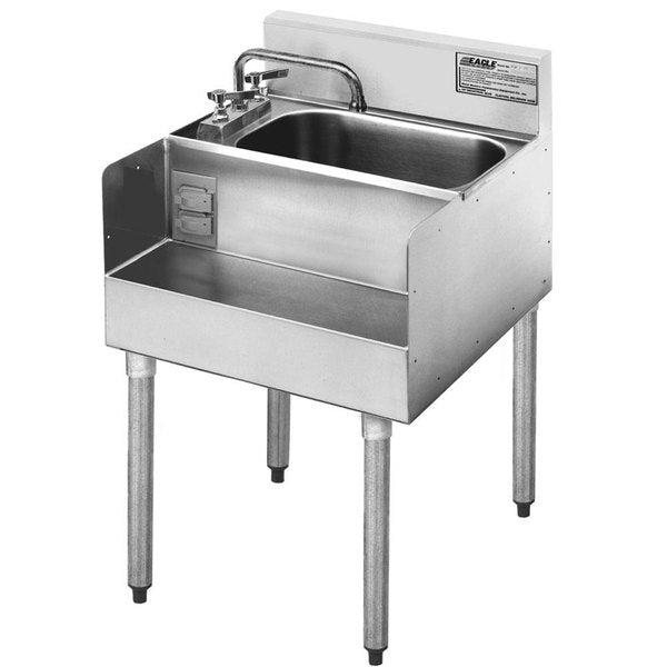 "Eagle Group MA7-18 - 18"" Blender Station, Modular Liquid Waste Step-Down Add-On for 1800 Series Underbar Units"
