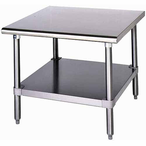 "Eagle Group MS2424 stainless steel Work Table, for Mixer / Slicer, w/ Undershelf, 24""W x 24""D"