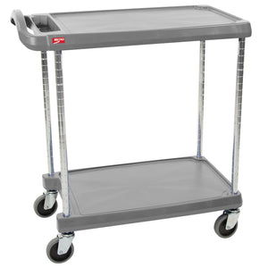"Metro MY2030-24G 24"" x 34"" Utility / Bussing Cart, 2 Shelves, 300 lb Capacity"