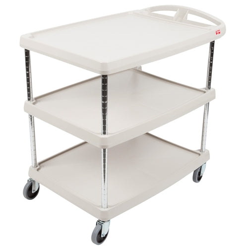 "Metro MY2030-34G  Utility / Bussing Cart, 24"" x 34"", 3 Shelves, 300 lb Capacity"