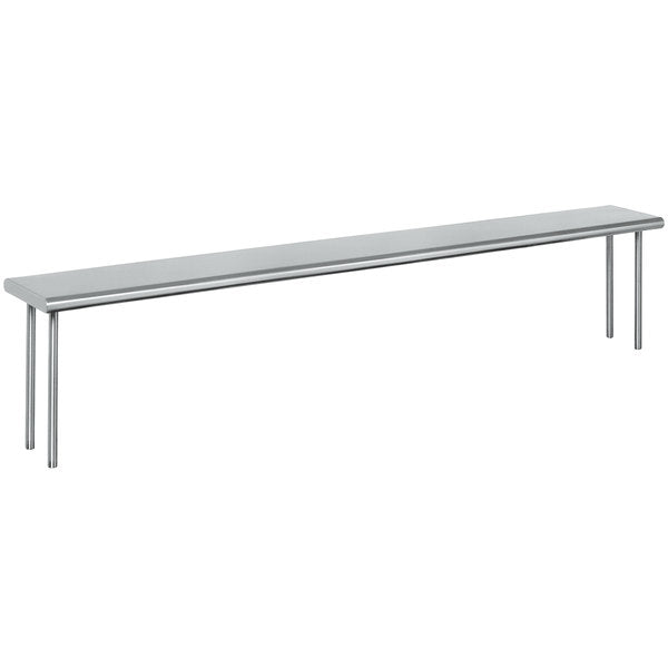 "Eagle Group OS-HT4 - 63.5""x10"" Overshelf, Single Deck, Table Mount, Stainless Steel"