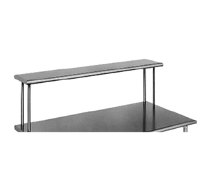 "Eagle Group OS1248-16/3 - 48"" Overshelf, Table Mount, Single Deck, Non-adjustable, 16/304 Stainless Steel"