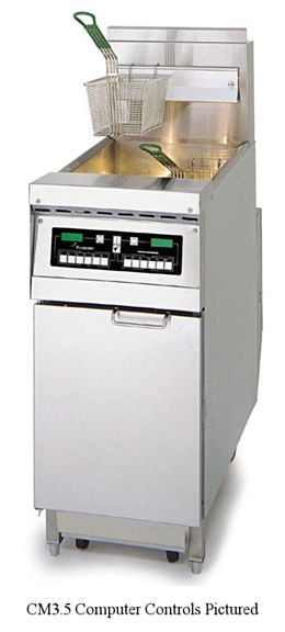 Frymaster PH155SC - 50 lb. Gas Fryer, Floor Model, NG - 80,000 BTU