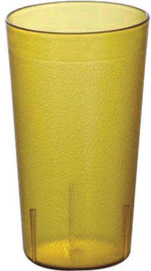 OMCAN PEBBLED TUMBLERS 20 OZ / 591 ML AMBER 80326 12/pack