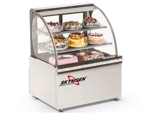 "Skyfood RBC-39 refrigerated bakery case 39"" - curved glass"