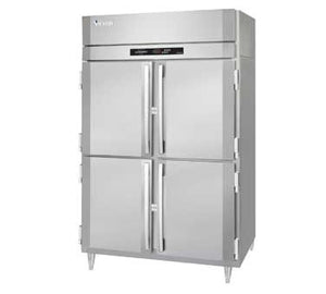 "Victory RS-2D-S1-HD-HC - 52"" Reach-In Refrigerator, 2 Section, 4 Half Solid Door, 6 Shelves, 46.5 Cu.ft., 1/3 HP, 115V"