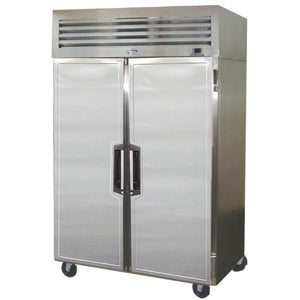 "Fogel SAVF-40-T - 47"" Reach-In Freezer, Narrow Depth, 2 Section, 2 Solid Doors, 6 Shelves, Top Mount, 40 Cu.ft., 1/2 HP, 115V"