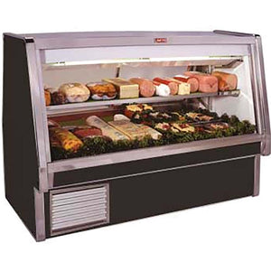 "Howard-McCray SC-CDS34E-6-BE-LED - 76.5"" Display Case, Deli Meats & Cheeses, self-contained refrigeration, double duty"