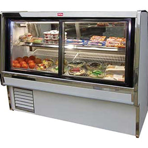 "Howard-McCray SC-CDS34E-6PT-LED - 76.5"" Display Case, Deli Meats & Cheeses, Pass thru doors, double duty"