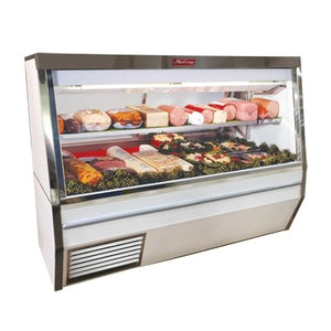 "Howard-McCray SC-CDS34N-8-LED 96"" Double Duty Deli Meat & Cheese Service Case, Self-Contained Refrigeration with Adjustable Mezzanine Shelf, White, 115v/60/1-ph"