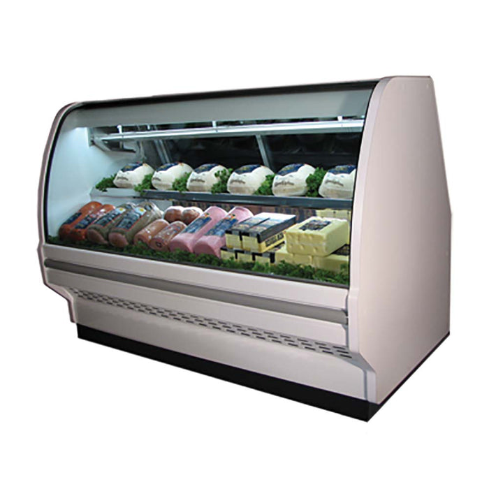 "Howard-McCray SC-CDS40E-4C-LS - 51"" Refrigerated Deli Case - Curved Glass"
