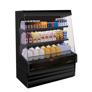 "Howard-McCray SC-OD30E-4L-B-LS - 51"" Display Case, Open Dairy, Self-contained, (2) Rows of Lighted Shelves"