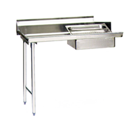 "Eagle SDTL-60-16/3 - 60"" Soiled Dishtable, Straight Design, Left-to-Right Operation, 16/304 Stainless Steel Top, 8""H Backsplash"