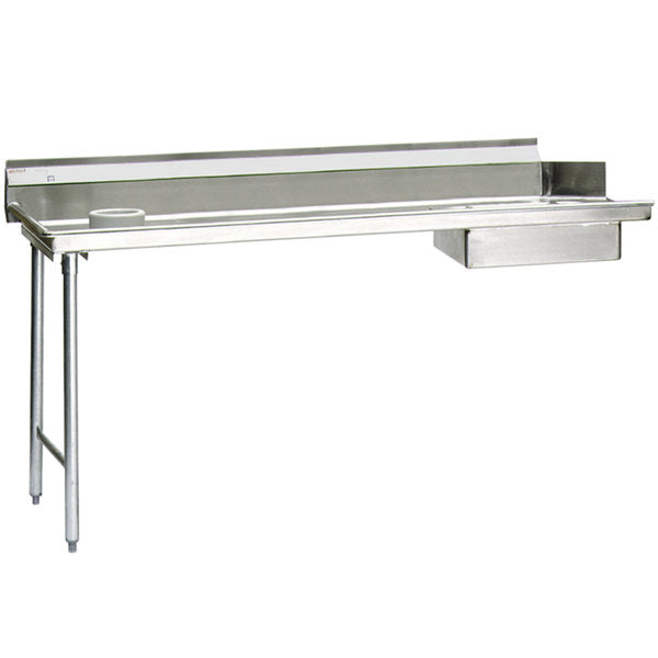 Eagle Group SDTL-60-16/4 - Soiled Dishtable, Left-to-right Operation, With Scrap Block, 16/430 Stainless Steel