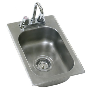 "Eagle Group SR16-19-13.5-1 - 16""x20"" Drop-In Sink, 1 Compartment, with Deck Mount Faucet and Gooseneck Nozzle, Stainless Steel"