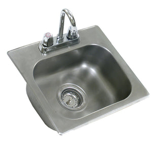 "Eagle Group SR24-18-13.5-1 - Drop-In Sink, with Deck Mount Faucet and Swing Nozzle - 24"" x 18"" x 13.5"" Bowl"