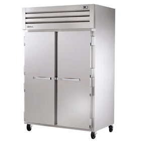 "True STR2R-2S 52.6"" Reach-In Refrigerator, 2 Section, 2 Solid Doors"