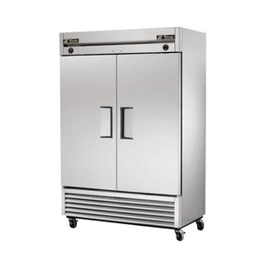 "True T-49DT 54"" Reach-In Dual Temp Refrigerator/Freezer, 2 Section, 2 Solid Doors"