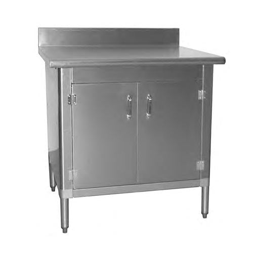 "Eagle Group T3036BA-BS-HGD - 36""W x 30""D Work Table, Cabinet Base Hinged Doors"