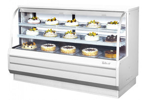 "Turbo Air TCGB-72-W(B)-N - 72.5"" Display Case, Refrigerated Bakery, self contained refrigeration, 22.7 cu.ft."