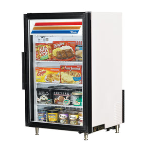 "True GDM-07F-HC~TSL01 - 24.1"" One Section Display Freezer, 1 Section, 1 Door, 3 Shelves, 1/4 HP, 7 Cu.ft, 115/60/1 ph"