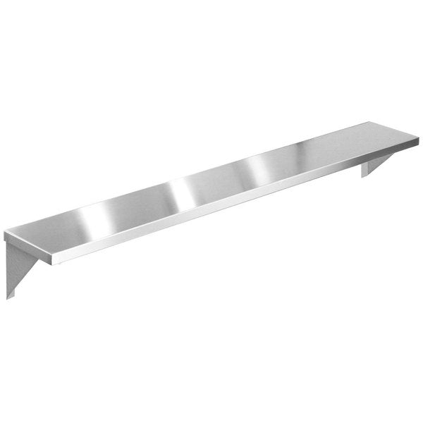 "Eagle Group TS-HT4 - Tray Slide, tainless Steel Solid Tray Slide with Stationary Brackets - 63.5""W x 10""D"