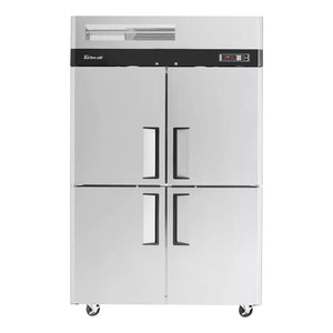 "Turbo Air M3R47-4-N 52"" Reach-In Refrigerator, 2 Section, 4 Solid Half Doors, 42.3 cu. ft., 115v"