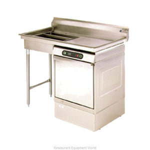 "Eagle UDT-5R-14/3 - 60"" Spec-Master Dishtable, Soiled, Undercounter, Dishwasher on Right, 14/304 Stainless Steel"