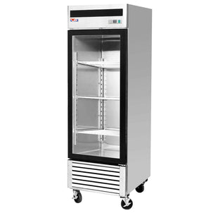 "US Inc USBV-24SDF - 27"" Reach-in Freezer, 1 Section, 1 Glass Door, Bottom Mount, 4 Shelves, 21 Cu. Ft. - 115v"