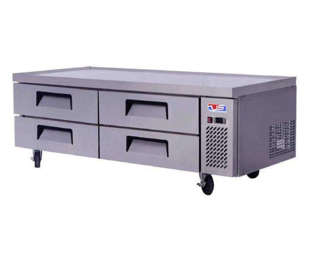 "US Inc USCB-72 Chef Base Refrigerator 72"" 4 Drawer, 115V"