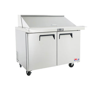 "US Inc USSMV-48 - 48.2"" Mega Top Sandwich / Salad Preparation Refrigerator, (2) Section, (2) Doors, (2) Shelves, 15 Cu. Ft. - 115v"