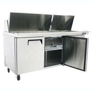 "US Inc USSV-73 - 73"" Sandwich / Salad Preparation Refrigerator, (3) Section, (3) Doors, (3) Shelves, (18) Pans, 33 Cu. Ft. - 115v"
