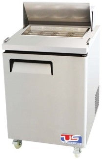 "US Inc USSV-28 - 27.5"" Sandwich / Salad Preparation Refrigerator, 1 Section, 1 Doors, 1 Shelves, 8 Pans, 7 Cu. Ft. - 115v"