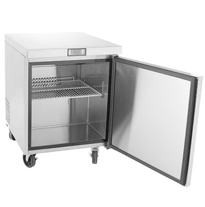 "US Inc USUV-28 - 27.5"" Undercounter Refrigerator, Flat Top, 1 Section, 1 Solid Door, 1 Shelve, 7 Cu. Ft. - 115v"
