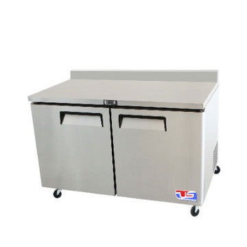 "US INC USWT-48F - 48"" worktop freezer, 2 Doors, 2 Shelves, 12 Cu. Ft."