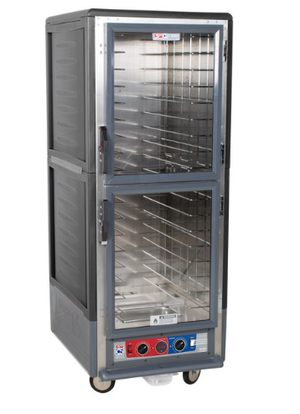 Metro C539-CLDC-L C5 3 Series Low Wattage Lip Load Heated Holding and Proofing Cabinet with Clear Dutch Doors , 120v, 1440 watts