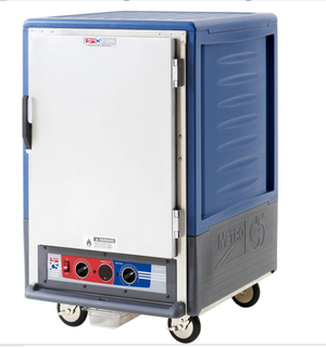 Metro C535-MFS-L-BU C5 3 Series Heated Holding and Proofing Cabinet with Solid Door - Blue, 120v, 2000 watts, 16.7 Amps