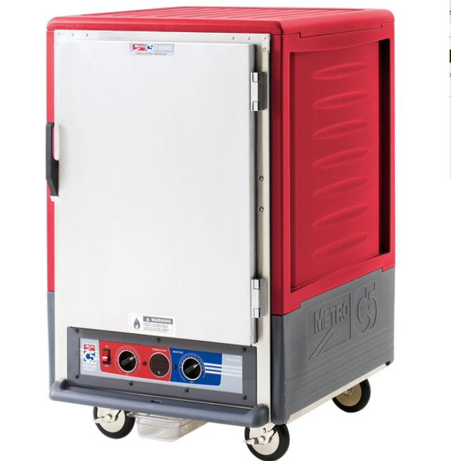 Copy of Metro C535-MFS-L C5 3 Series Heated Holding and Proofing Cabinet with Solid Door - Red, 120v, 2000 watts, 16.7 Amps