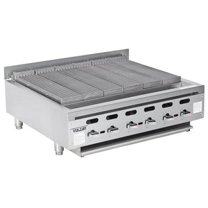 "Vulcan VACB36-101 - 36"" Radiant Gas Charbroiler, NG, Achiever, Medium-Duty, 6 Burners, 1 Drip Tray - 102,000 BTU"