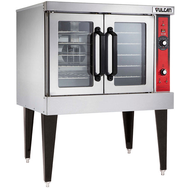 Vulcan VC4ED-11D1 Single Deck Full Size Electric Convection Oven - 3 Phase, 12.5 kW, 208V