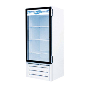 "Fogel VR-10-US - 25.6"" Reach-In Refrigerator, 1 Section, 1 Glass Door, 3 Shelves, Bottom Mount, 10 Cu.ft., 1/5 HP, 115V"