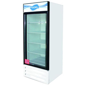 "Fogel VR-26-US - 30"" Reach-In Refrigerator, 1 Section, 1 Glass Door, 4 Shelves, Bottom Mount, 26 Cu.ft., 1/3 HP, 115V"