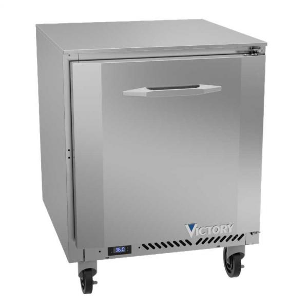 "Victory VUR27HC - 27"" Refrigerator, Undercounter, Reach-In, 1 Section, 1 Door, 2 Shelves, 5.8 Cu.ft., 1/6 HP, 115V"