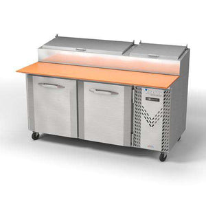 "Victory Pizza Prep Refrigerator Table VPP67, UltraSpec Series, 67"" W, 27 cu ft"