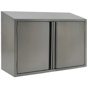 "Eagle Group WCH-36 36""W x 15""D x 28""H Stainless Steel Wall Cabinet with Hinged Doors, Wall Mount"