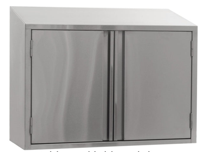 "Eagle Group WCH-48 Wall Cabinet, 48""W x 15""D x 28""H, 2 removable doors, sloped top"
