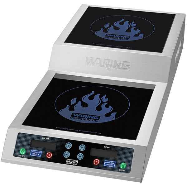 Waring Wih800 - Induction Range, Countertop, With Step Up, Double Hob, 3.6kw - 208/240v/60/1-ph
